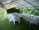 Roof only marquee for simple summer party