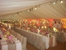 Corporate entertainment dinner marquee