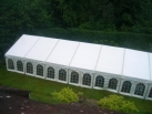 marquee with orangery windows on one side