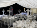 Black, White and Silver themed marquee