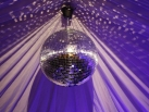 Mirrorball with purple colour wash.