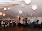 Marquee with white paper lanterns