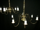 Large 6 arm chandelier