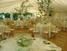 Ivory pleated roof & wall linings