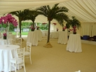 Ivory pleated roof and wall linings