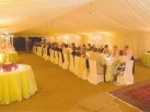 Marquee to accommodate long dinner table