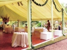 Wedding marquee with roof only annex