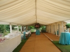 6m x 24m awning to form bar area