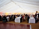 Wedding marquee with long tables
