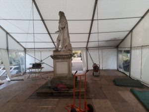 Marquee set up for Christmas event